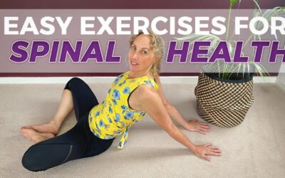 easy relaxing yoga for beginners focused on spinal releases over 50s