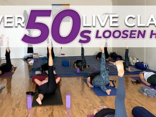 70 Minute Llive Recording Yoga Class for Beginners over 50