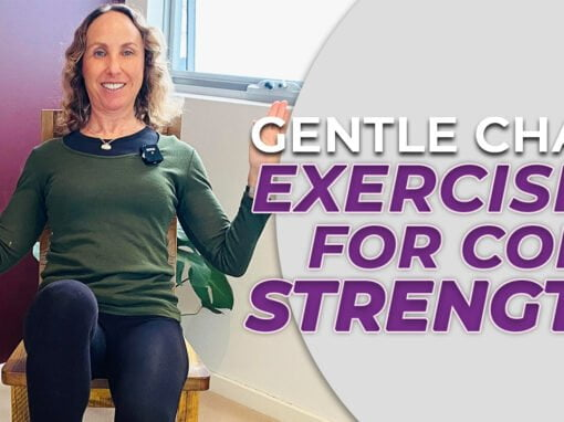 Gentle chair exercises for core strength